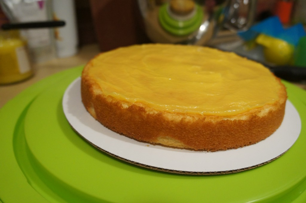 lemon curd one layer