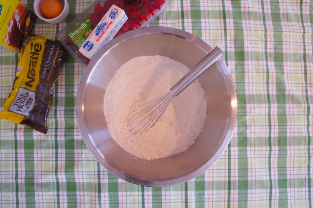 whisked flour